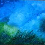 Blue Green Acrylics Study - Acrylics on board - 40cm x 60cm