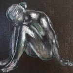 Girl - Acrylics on canvas 25cm x 25cm