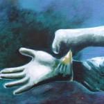 Gloves - Acrylics on Canvas – 40cm x 50cm