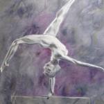 Gymnast - Acrylics on canvas – 50cm x 60cm