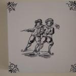 Ice Skaters - Acrylics on canvas 25cmx25cm