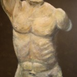 Male Torso - Acrylics on canvas board - 60cm x 76cm