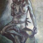 The Old Courtesan - Acrylics on canvas 61cmx91cm